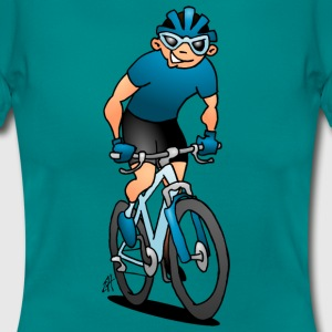 MTB - Mountain biker on his moutainbike T-Shirts - Women's T-Shirt