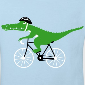 crocodile on bicycle T-Shirts - Kinder Bio-T-Shirt