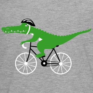 crocodile on bicycle Langarmshirts - Teenager Premium Langarmshirt