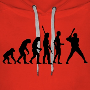 evolution_baseball_1c Sweat-shirts - Sweat-shirt à capuche Premium pour femmes
