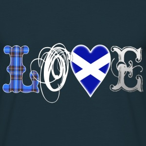 Love Scotland Tartan Edit T-Shirts - Männer T-Shirt