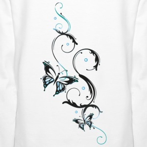 Filigree butterfly with feminine ornament - Women's Premium Hoodie