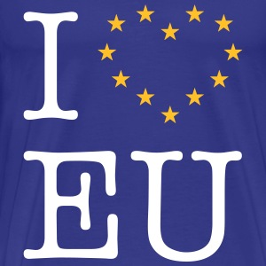 I Love EU (Europe) T-Shirts - Men's Premium T-Shirt