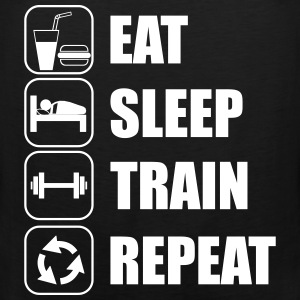 Eat,sleep,train,repeat,gym - Männer Premium Tank Top