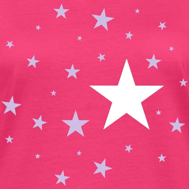 Sterne zweifarbig T-Shirt
