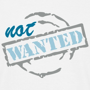 wanted not_vec_3 en T-Shirts - Men's T-Shirt