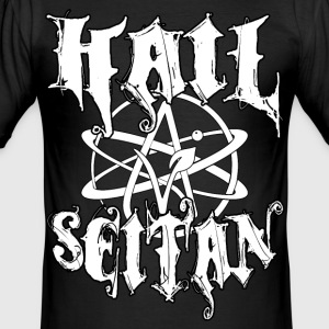 Hail Seitan - Vegan Atheist T-Shirts - Männer Slim Fit T-Shirt