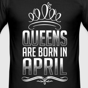 April - Queen - fødselsdag - 3 - EN T-shirts - Herre Slim Fit T-Shirt