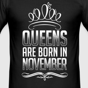 November - Queen - verjaardag - 3 - nl T-shirts - slim fit T-shirt