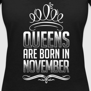 November - Queen - birthday - 3 - EN T-Shirts - Women's V-Neck T-Shirt