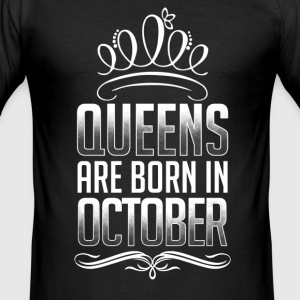 October - Queen - birthday - 3 - EN T-Shirts - Men's Slim Fit T-Shirt
