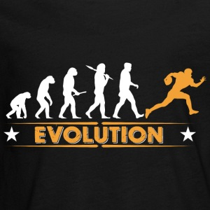 American Football - Evolution orange/weiss Manches longues - T-shirt manches longues Premium Ado