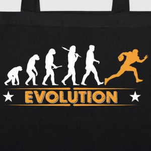 American Football - Evolution orange/weiss Tassen & rugzakken - Bio stoffen tas