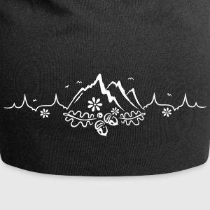 Heartbeat, love for hiking and mountaineering - Jersey Beanie