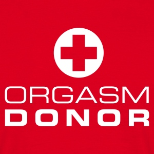 Rood Orgasm donor T-shirts - Mannen T-shirt
