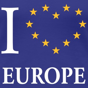 I Love Europe / I Heart Europe (Europa) T-Shirts - Frauen Premium T-Shirt