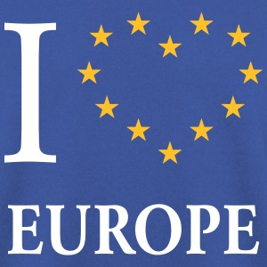 I Love Europe / I Heart Europe (Europa) Felpe - Felpa da uomo