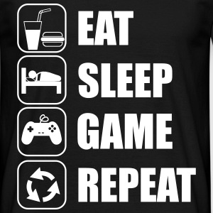 Eat,sleep,game, geek, gamer , nerd  - Men's T-Shirt