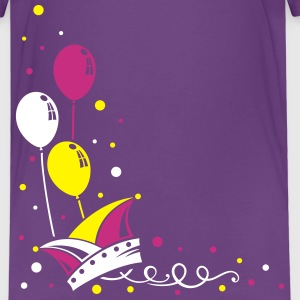 Carnival hat with balloons, streamer and confetti. - Kids' Premium T-Shirt