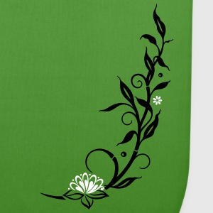 Bamboo with small blossoms and lotus flower. - EarthPositive Tote Bag