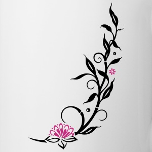 Bamboo with small blossoms and lotus flower. - Mug