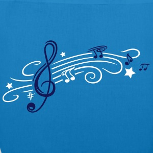 Music, clef with stars and music notes - EarthPositive Tote Bag
