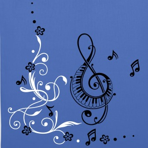 Clef with music notes and floral elements - Tote Bag