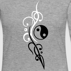 Yin & Yang symbol, Tribal and Tattoo Style. - Women's Premium Longsleeve Shirt