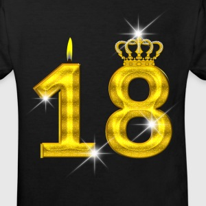 18 birthday - Crown - candle - gold Shirts - Kids' Organic T-shirt