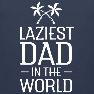 Laziest Dad In The World | Palm Tree Crossed Sports wear - Men's Premium Tank Top