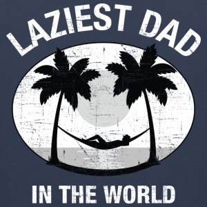 Laziest Dad In The World | Palm Tree And Hammock Odzież sportowa - Tank top męski Premium