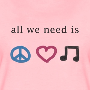 All we need is peace, love & music (Premium Shirt) - Frauen Premium T-Shirt