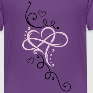 Big heart with large infinity loop - Teenage Premium T-Shirt