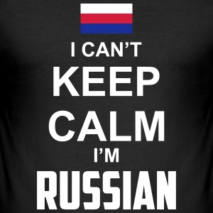 I can't keep calm i'm Russian T-Shirts - Männer Slim Fit T-Shirt