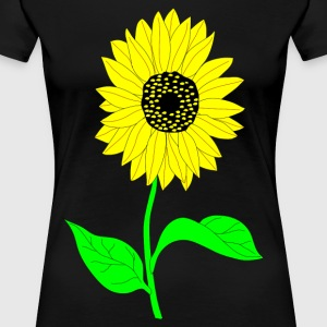 flowers with green stems, yellow colored petals - Women's Premium T-Shirt