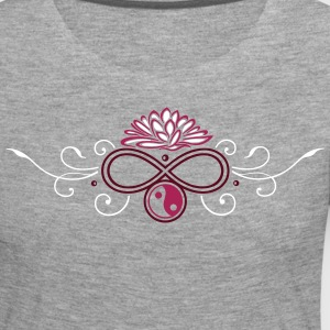 Large lotus flower with infinty and yin and yang - Women's Premium Longsleeve Shirt