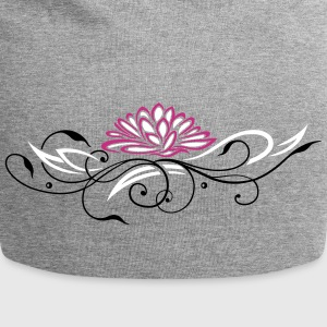Large lotus flower with filigree ornament - Jersey Beanie