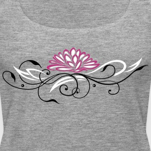 Large lotus flower with filigree ornament - Women's Premium Tank Top