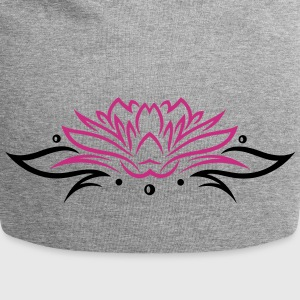 Large lotus flower with small tribal. - Jersey Beanie