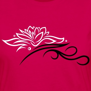 Large lotus flower with small tribal. - Women's Premium Longsleeve Shirt