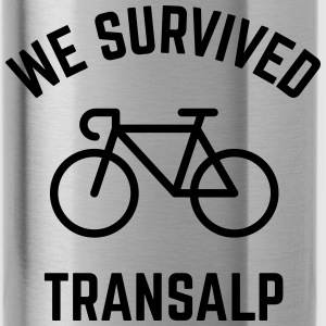 We Survived Transalp (Alps / Racing Bike) Mugs & Drinkware - Water Bottle