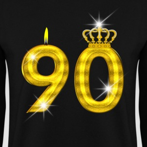 bougie d'anniversaire 90 - Crown - - or Sweat-shirts - Sweat-shirt Homme
