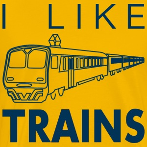I like trains T-Shirts - Men's Premium T-Shirt