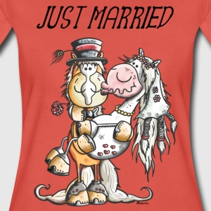 Just Married Pferde T-Shirts - Frauen Premium T-Shirt