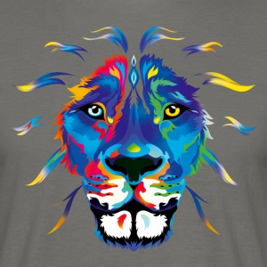 Fresh colored Lion T-Shirts - Männer T-Shirt