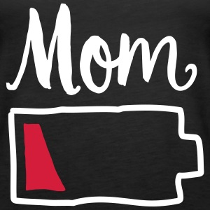 Tired Mom | Low Battery Symbol Topy - Tank top damski Premium
