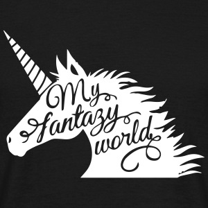 Unicorn My Fantasy World - T-shirt herr