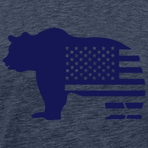 bear usa T-Shirts - Men's Premium T-Shirt