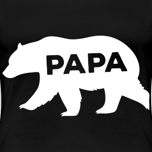 Bear Silhouette Illustration T-shirts - Dame premium T-shirt
