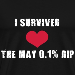 Trader's Shirt - I survided the May 0.1%Dip T-shirts - Herre premium T-shirt